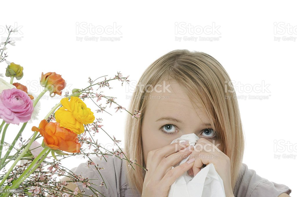 seasonal allergy royalty-free stock photo