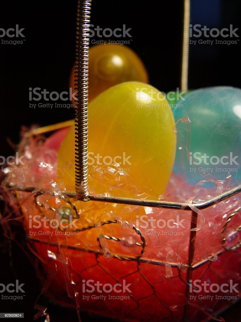 seasonal - easter basket royalty-free stock photo