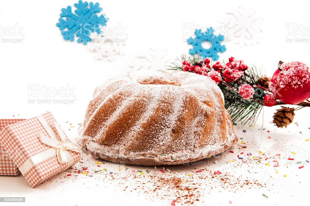 Seasonal festive christmas cake mini dessert   decorative symbols elements zbiór zdjęć royalty-free