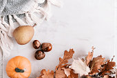istock Seasonal flatlay with autumn accessories 855150608