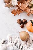 istock Seasonal flatlay with autumn accessories 855150660