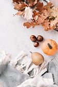 istock Seasonal flatlay with autumn accessories 855150680