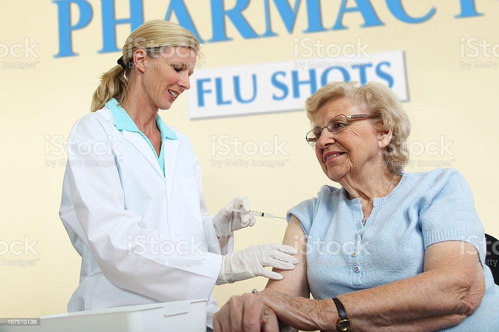Seasonal Flu Shot royalty-free stock photo