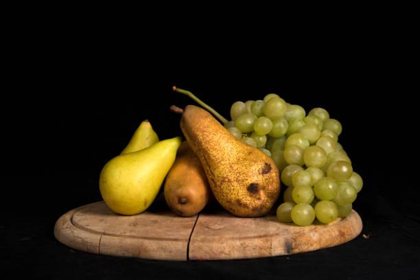 Seasonal fruit at farmers market in Rome stock photo