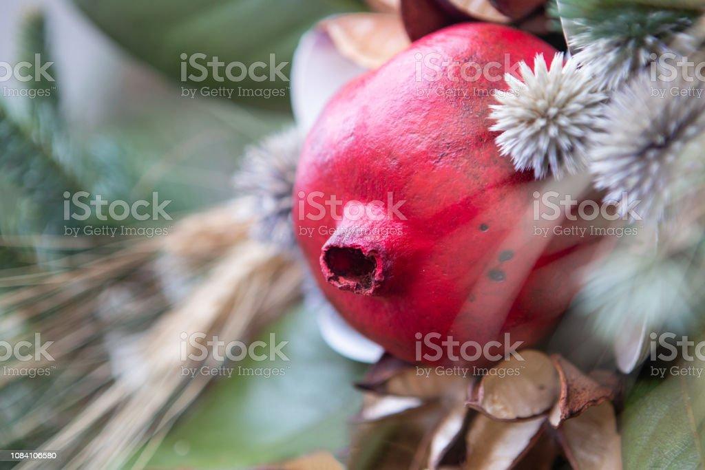 Seasonal holiday wreath stock photo