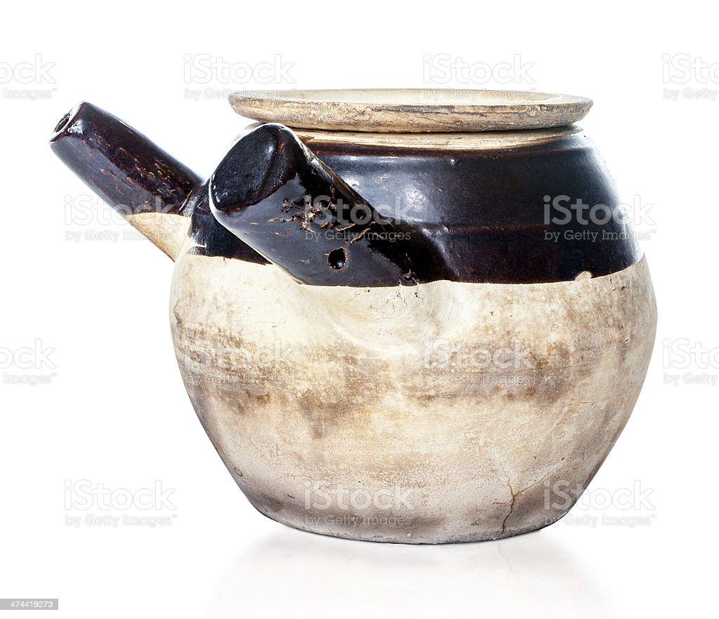 Seasoned Chinese Herbal Medicine Claypot royalty-free stock photo