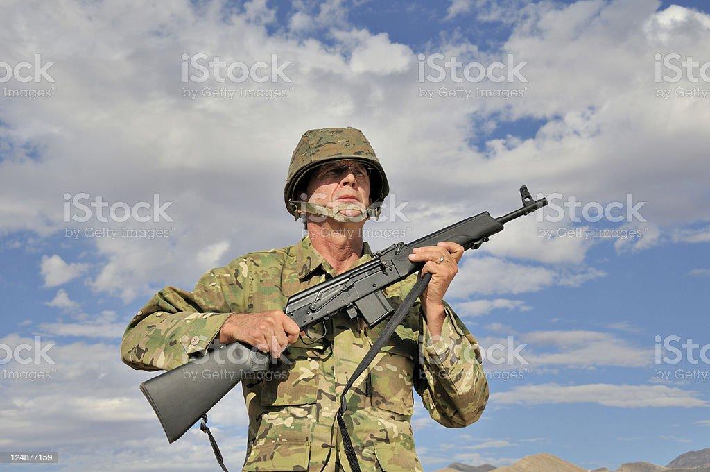 Seasoned Military Man royalty-free stock photo