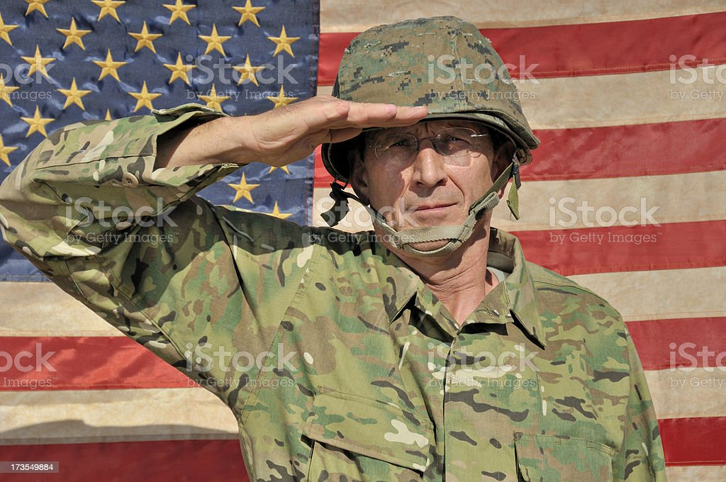Seasoned Military Personnel royalty-free stock photo