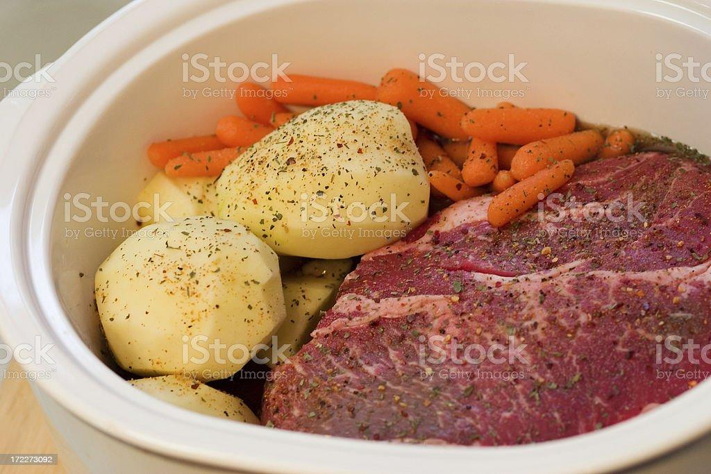seasoned pot roast royalty-free stock photo