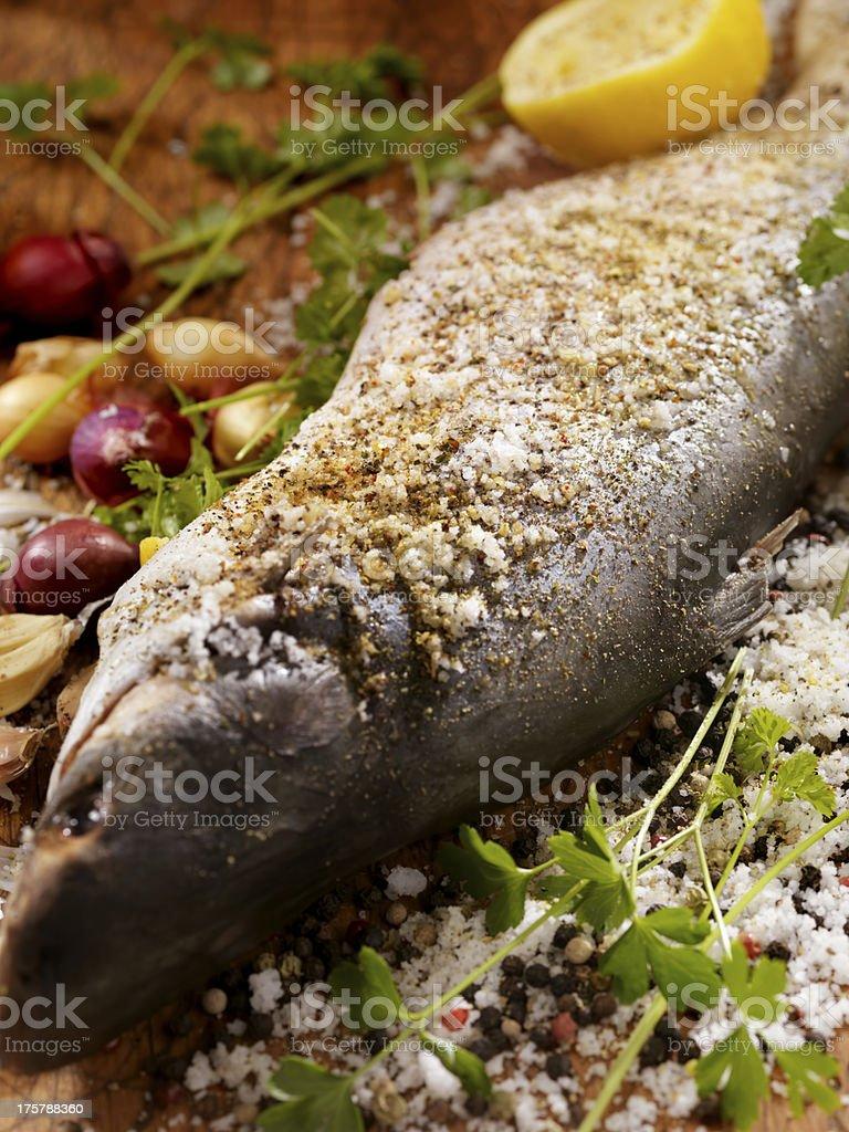 Seasoned Sea Bass royalty-free stock photo