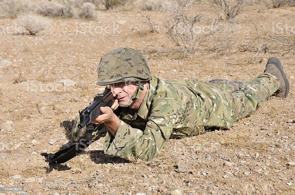 Seasoned Soldier royalty-free stock photo