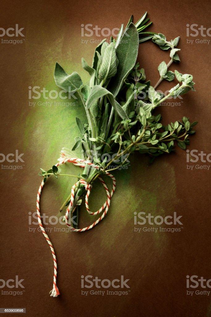 Seasoning: Bouquet Garni Still Life stock photo