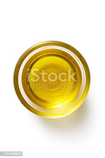 Seasoning: Olive Oil Isolated on White Background