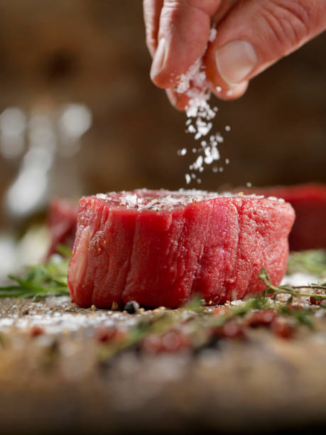 Würzen Raw Fileet Mignon Steaks – Foto