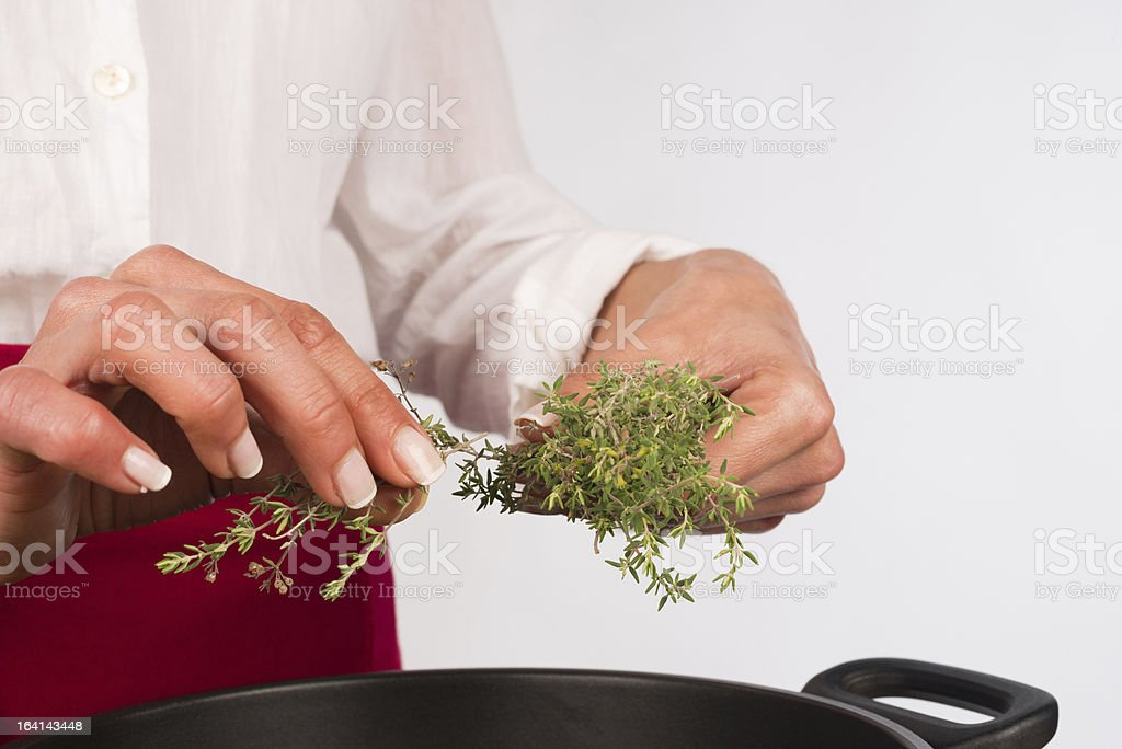 Seasoning with thyme royalty-free stock photo