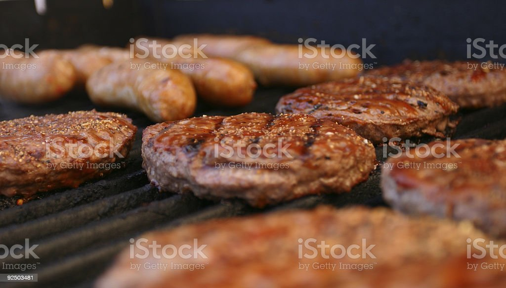 Season's First BBQ royalty-free stock photo