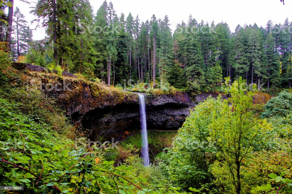 4 Seasons - Oregon's Silver Falls stock photo