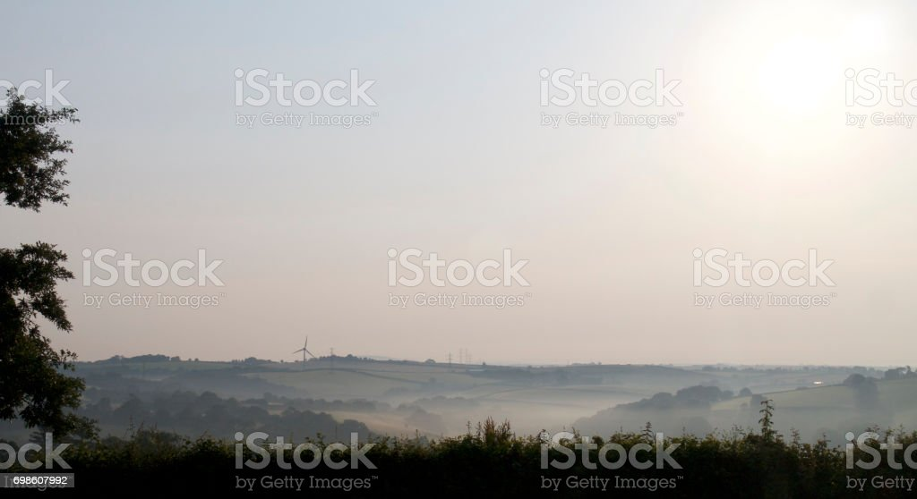 4 Seasons - Summer morning in the countryside, UK stock photo