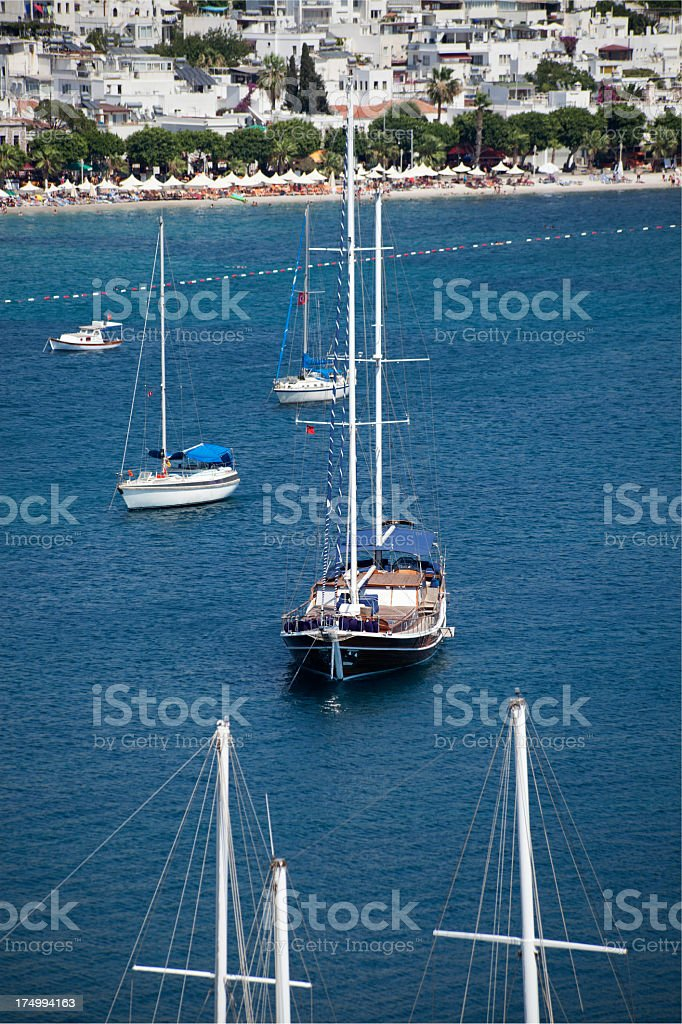Seaspace with yachts royalty-free stock photo