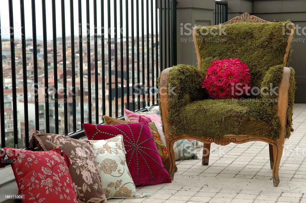 seat and cushions royalty-free stock photo