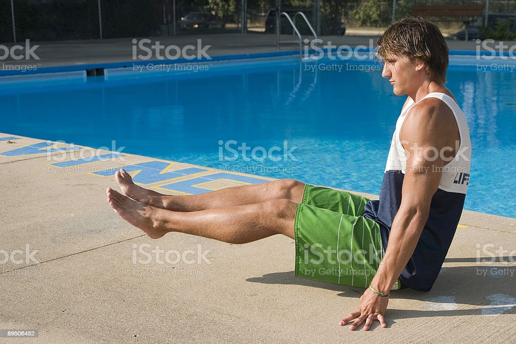 L seat at the pool. royalty-free stock photo