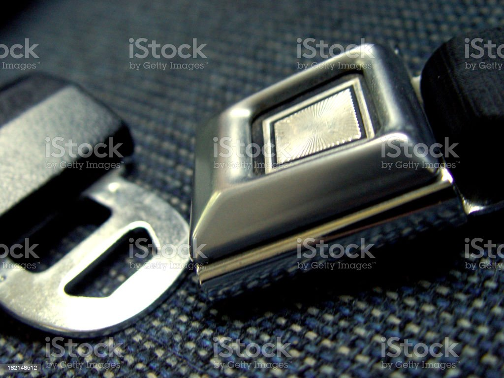 Seat belt buckle royalty-free stock photo