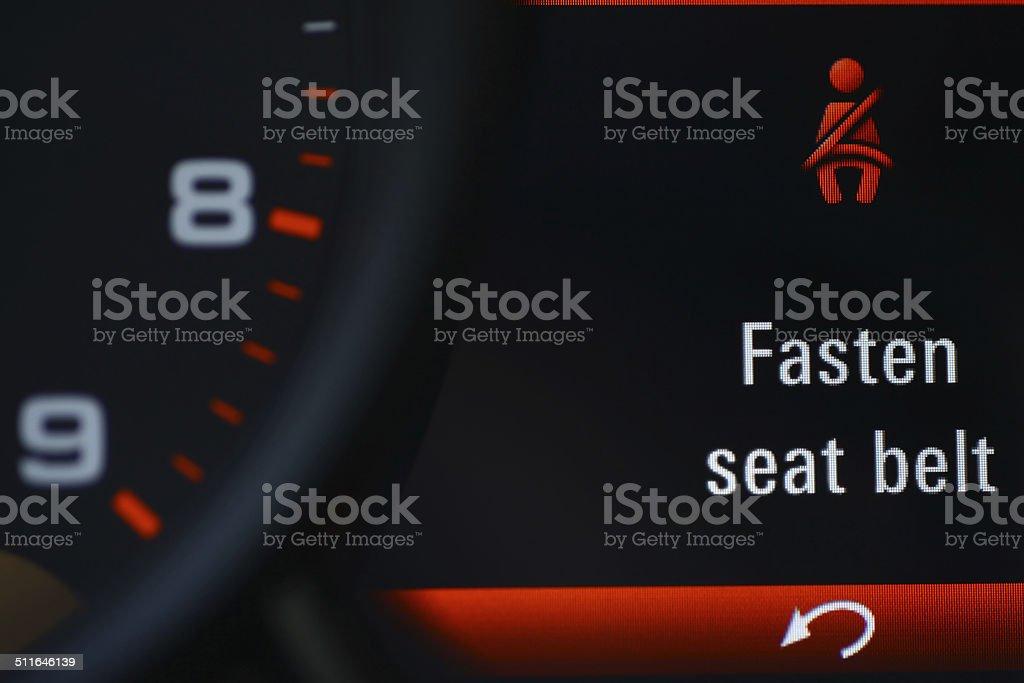 Seat belt icon stock photo