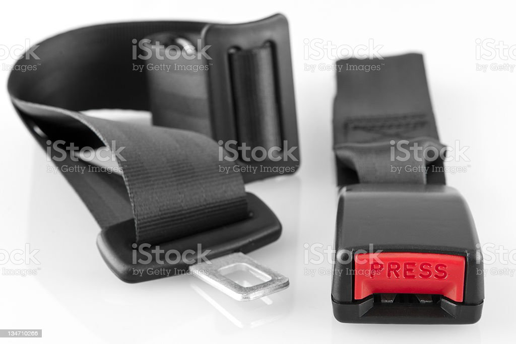 Seat belt isolated on a white background royalty-free stock photo
