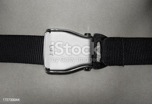 Seat belt of the aeroplane