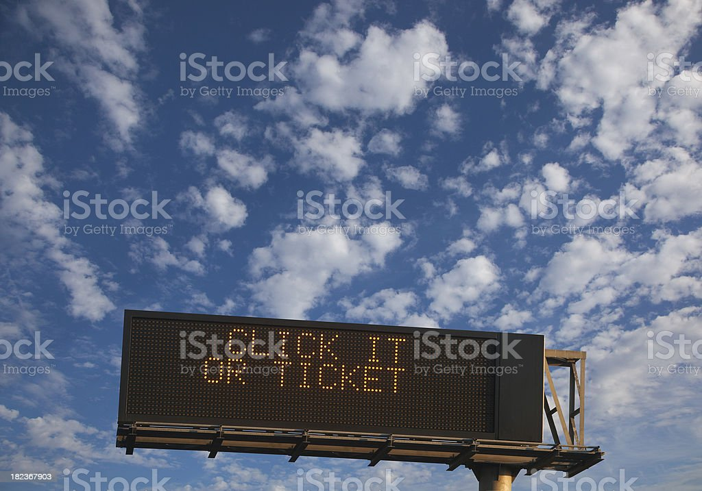 seat belt safety sign stock photo