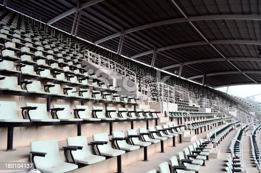 Seat in the stadium .