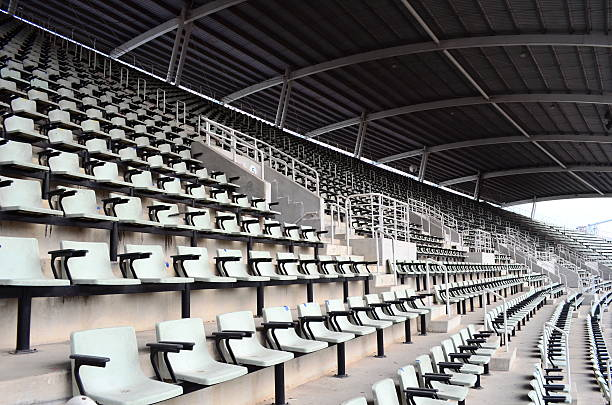 Seat in the stadium Seat in the stadium . no people stock pictures, royalty-free photos & images