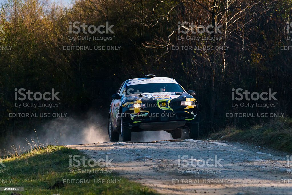 Seat  Leon competes at the annual Rally Galicia stock photo