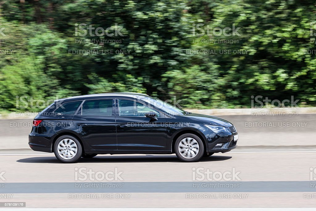 Seat Leon ST on the road stock photo