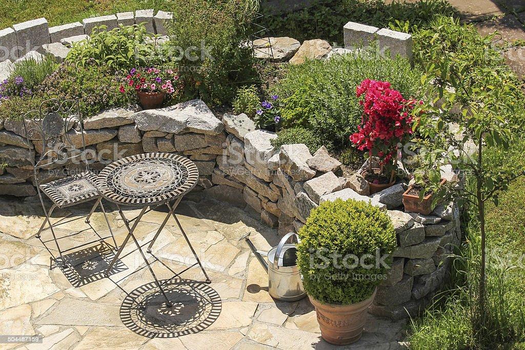 Sedile Luogo Paesaggio Di Giardinaggio Fotografie Stock E Altre