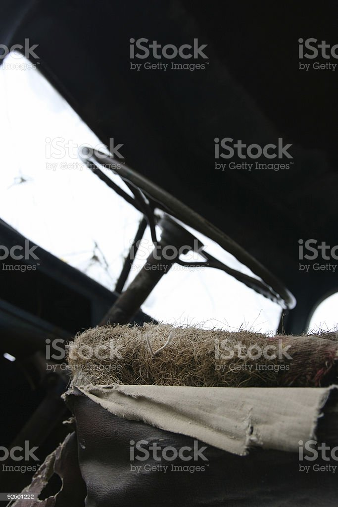 Seat Stuffing royalty-free stock photo