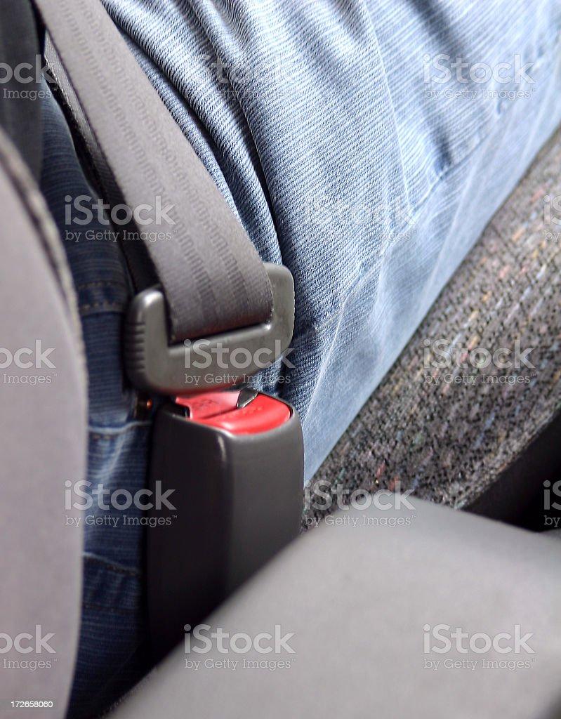 seatbelt fastened royalty-free stock photo