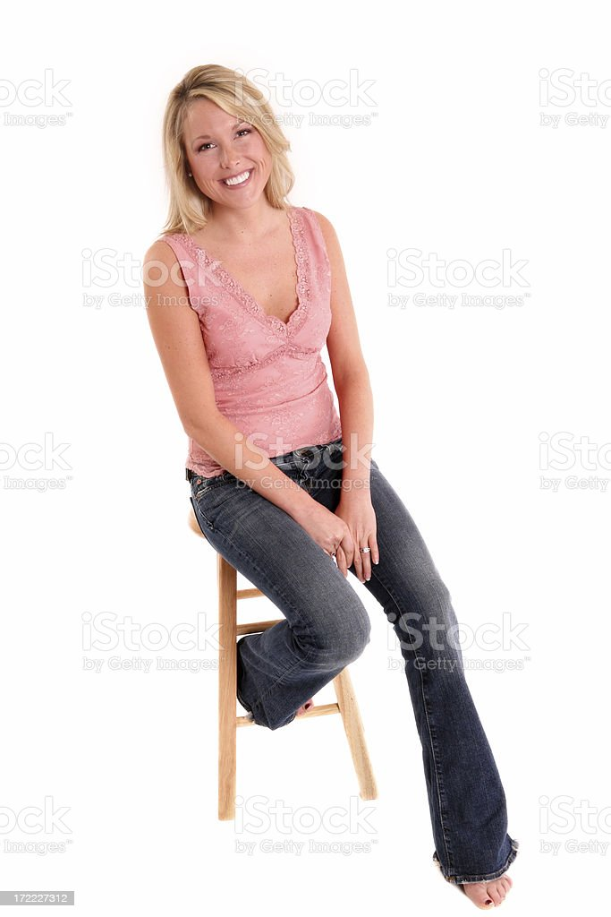 Seated royalty-free stock photo