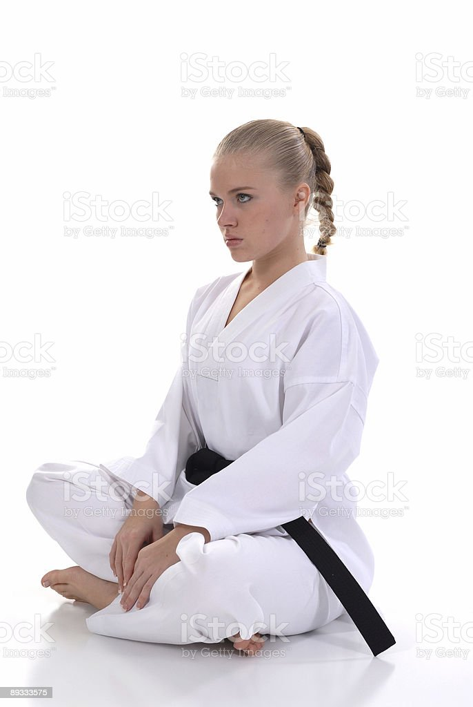 Seated self confidnece stock photo