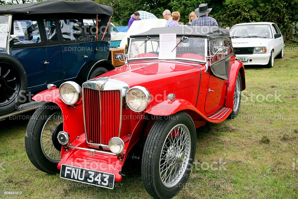 MG TA 2 seater sports from 1938. stock photo