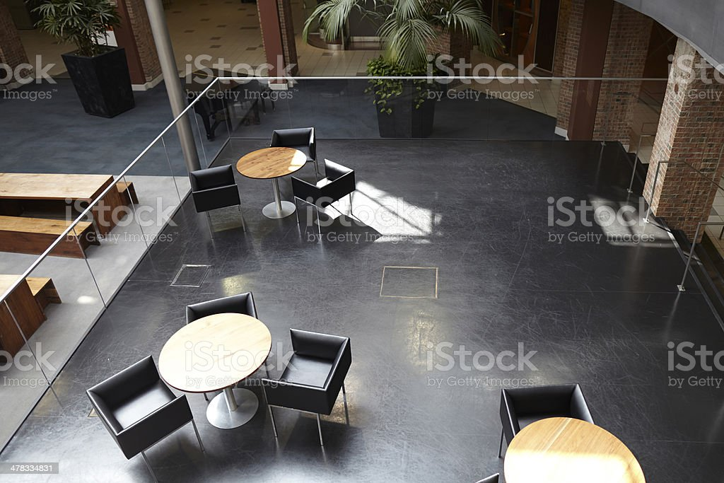 Seating area in a shopping mall royalty-free stock photo