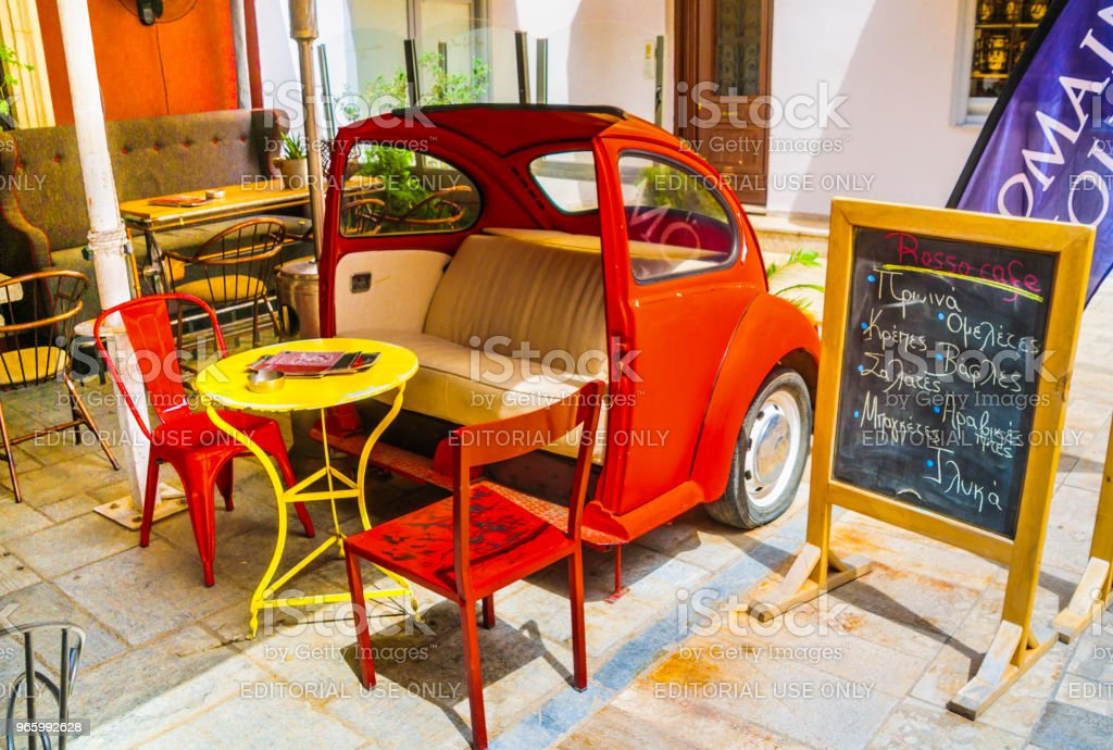 Sitzgelegenheiten im Russo Cafe - Lizenzfrei Alt Stock-Foto