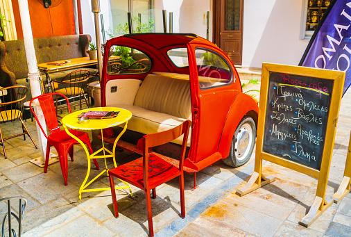 Sitzgelegenheiten Im Russo Cafe Stockfoto und mehr Bilder von Alt