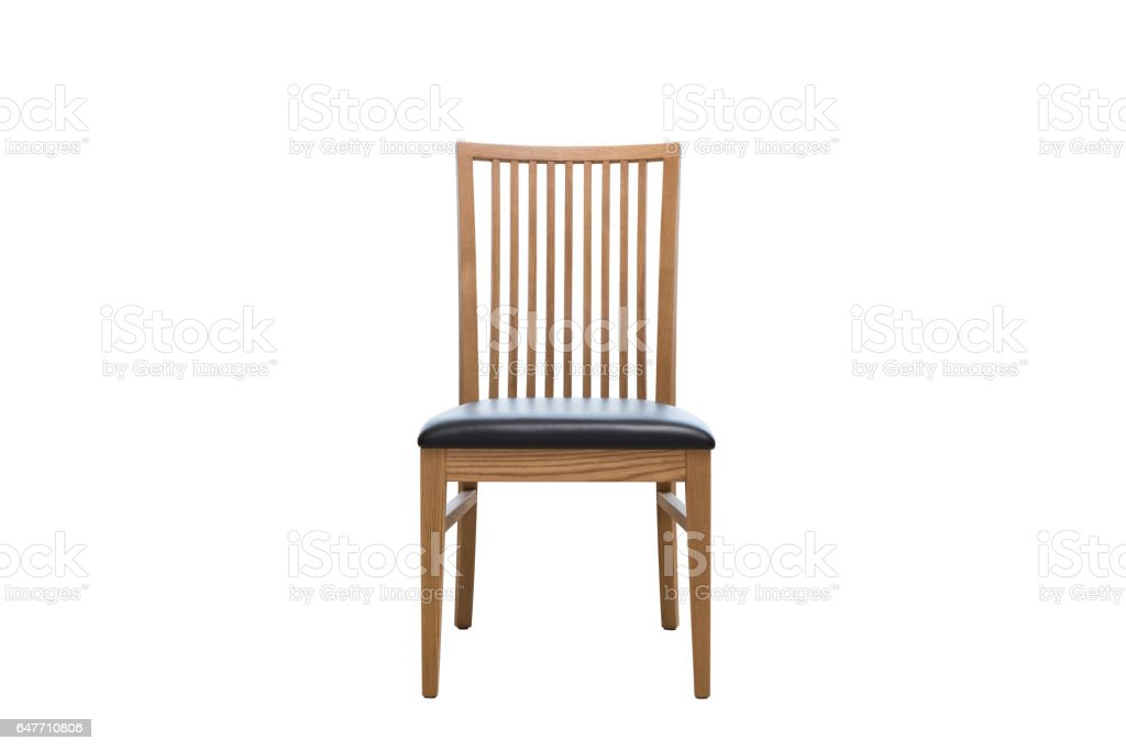 wooden chair front view. Seating Furniture Front View Isolated On White Stock Photo. Old Wooden Chairs Chair