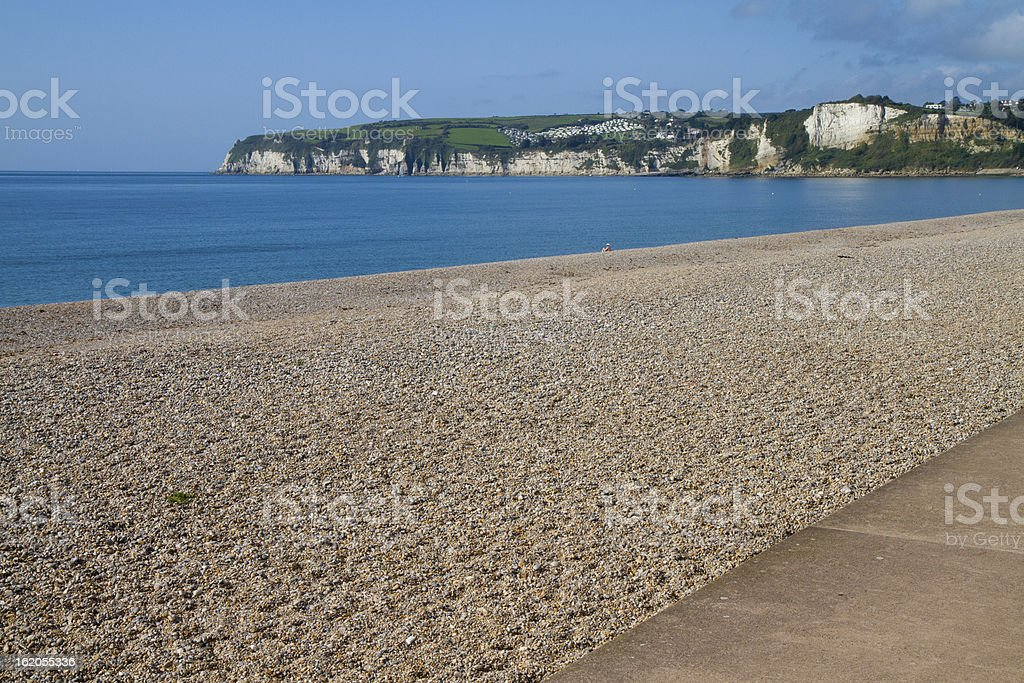 Seaton beach Devon England UK royalty-free stock photo