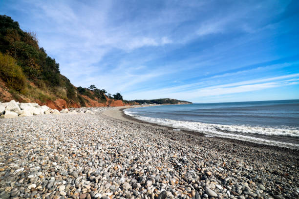 Seaton beach in Devon stock photo