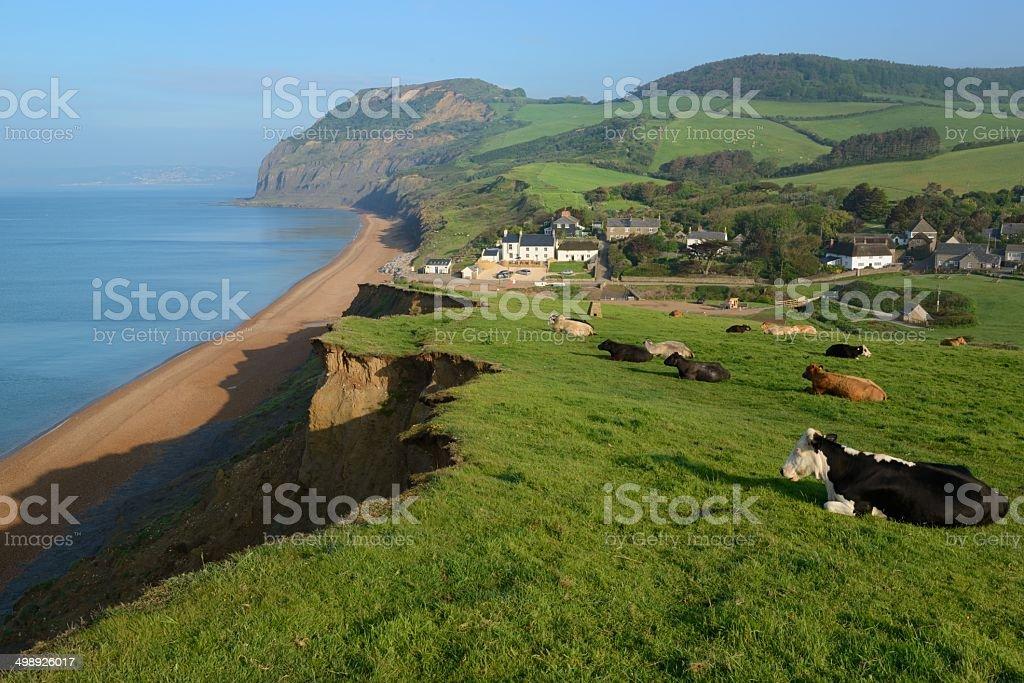 Seatown on Dorset's Jurassic Coast stock photo