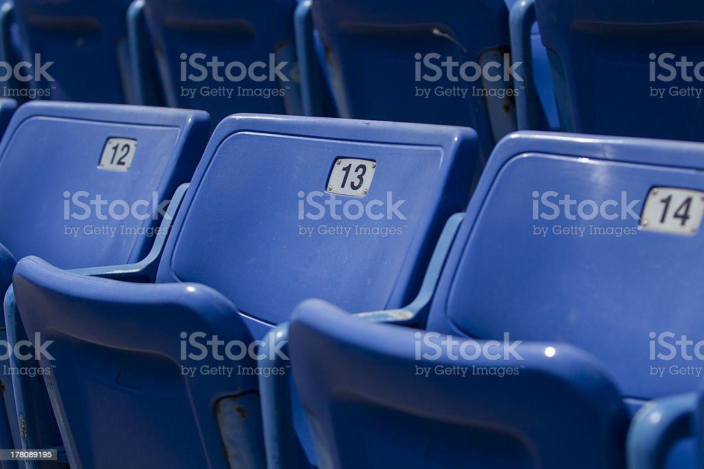 Seats at a baseball stadium royalty-free stock photo