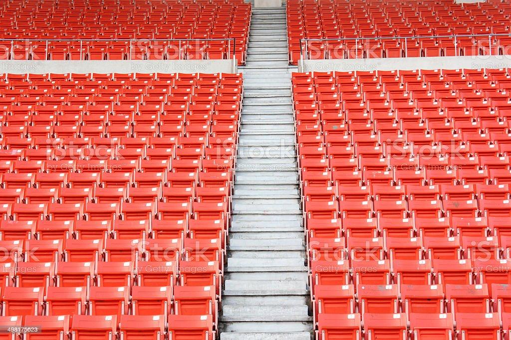 seats at stadium stock photo
