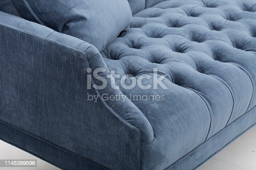 seats cozy leather sofa, 2 seater modern sofa in light grey fabric, 2-Seat Sofa, Feather Cushion Sofa,